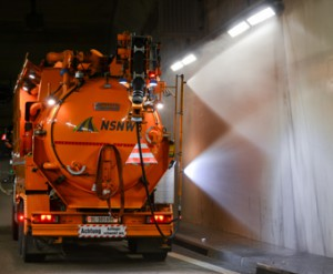 Maintenance in an tunnel